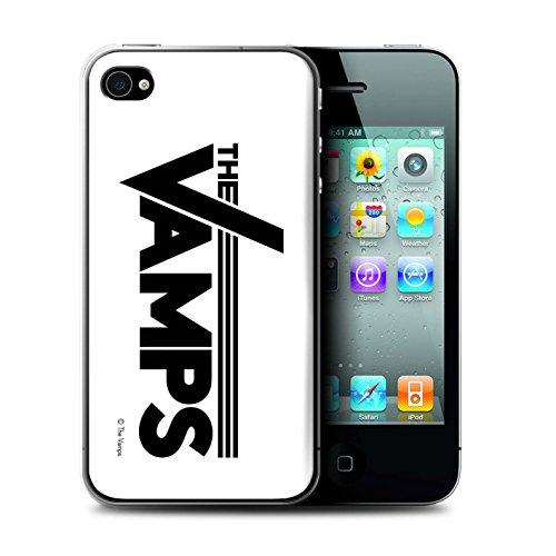 Officiel The Vamps Coque / Etui pour Apple iPhone 4/4S / Pack 6pcs Design / The Vamps Graffiti Logo Groupe Collection Blanc/Noir