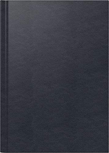 BRUNNEN 107955790 Buchkalender Modell 795 (1 Seite = 1 Tag, 14,5 x 20,6 cm, Leder-Einband, Kalendarium 2020) schwarz (- Leder-tag)