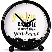 ASWHOLE Ideas Inspirational You are Capable of More Than You Know Alarm/Table Clock for Home Décor/Office