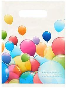 Lote de 6 bolsas para caramelos con globos de colores, multicolor, PR89697