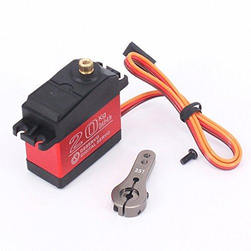 DS3218 RC Servo Wasserdichtes Aluminiumoberteil Einachsiges Servo Metallzahnrad digitales Servo baja 20kg Servo für RC Auto (control angle 180)