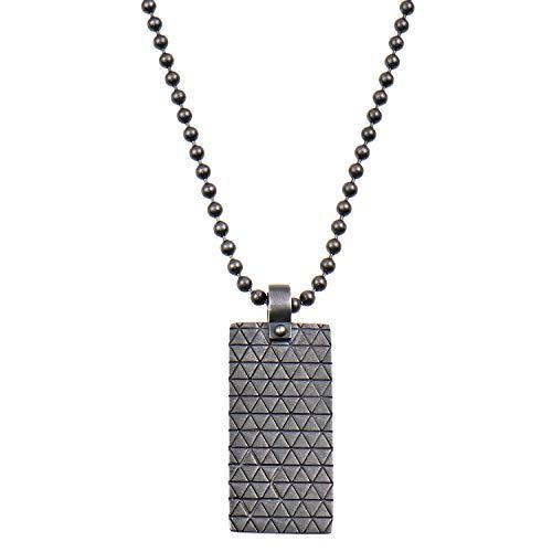 49d35b8224 caï Men Necklace 925/000 Sterling Silver Vintage Oxidised 60 cm