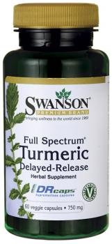 Swanson Full Spectrum Delayed Release Turmeric 750mg (60 Vegetarian Capsules) from Swanson Health Products