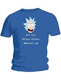 Let's Get Rickety Rickety Wrecked Son - NEW Rick and Morty Inspired Blue T-Shirt
