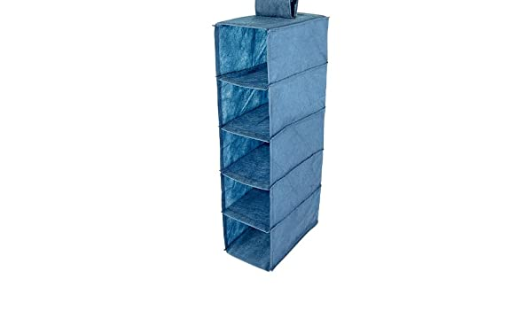 Hängeregal stoff amazon  Hanging Organizer Fabric Rack 5 Compartments Size: 65 x 30 x 18 cm ...