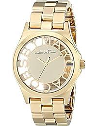 Marc Jacobs MBM3206 - Reloj para mujer con correa de acero, color dorado / gris