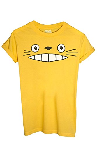 T-Shirt TOTORO SMILE - CARTOON by Mush Dress Your Style - Uomo-M-Gialla