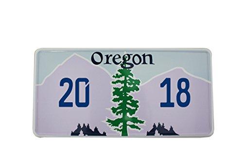 US Auto Kennzeichen STATE LICENSE PLATE Schilder USA Oregon mit Wunschprägung (blau)