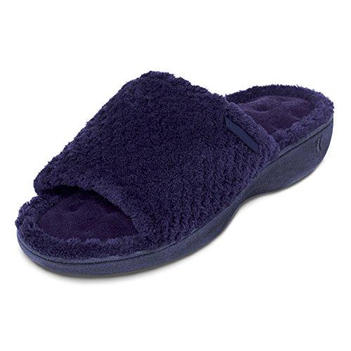 isotoner-popcorn-secret-sole-open-toe-mule-slippers-dark-navy-uk-size-5