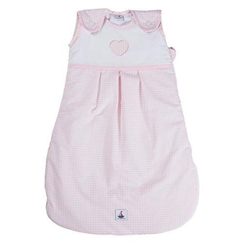 Preisvergleich Produktbild Hansekind TW16032 Schlafsack Herz, 6-18 M, 90 cm, rosa