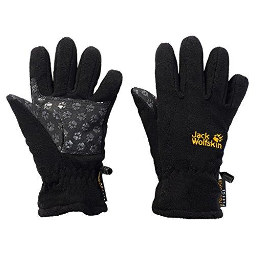 Jack Wolfskin Kinder Handschuhe Kids Stormlock Glove, Black, 128, 1002037301 -
