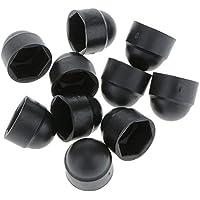 Tuercas de protección para Tuerca de cúpula Negra y Blanca, 10 Unidades, Tornillos hexagonales, Color Negro, M813 mm