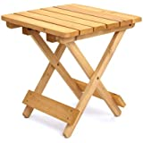 Trueshopping Fine quality Folding side table 406mm Square Indoor or Outdoor use