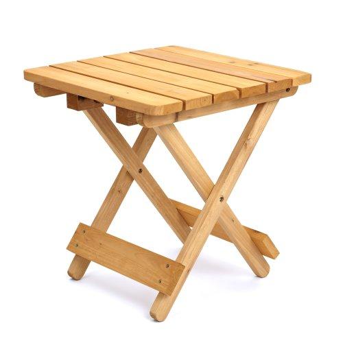 Trueshopping tavolino pieghevole quadrato robusto per giardino, patio, interni