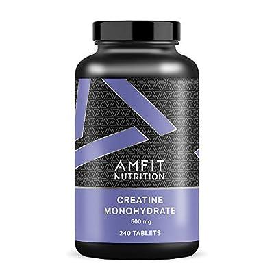 Amazon Brand - Amfit Nutrition Creatine Monohydrate 500mg - 240 Tablets by Amazon EU Sarl