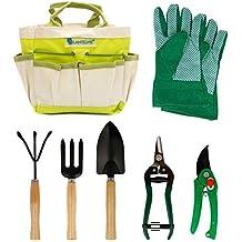 Lantelme 5124 Plantas/Jardín Juego de herramientas con maletín de poliéster/metal/madera
