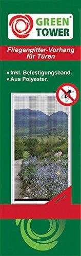GREEN TOWER Insektenschutz- Vorhang 90X215 Anthrazit