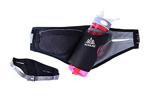 aonijie impermeabile traspirante Outdoor Casual Uomo Donna Marsupio Borsa Cintura Sport sacchetti da tasca, Black Black