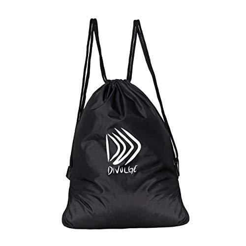 Best string bag in India 2020 DIVULGE Drawstring Bag Sports Bag Gym Bag and Multi Utility Bag (Black) Image 1