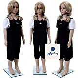 GIFTGALAXCY Male | Female| Kids Straight Full Body Plastic Mannequin Dummy with Stand (Skin Colour, 3.3 ft)