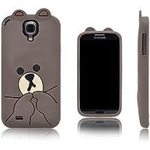 Xcessor Oso Bear Funda Carcasa de Silicona Para Samsung Galaxy S4 i9500. Marrón