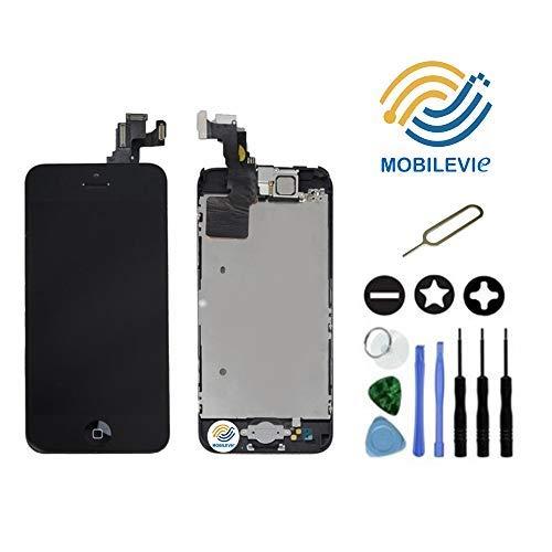 Mobilevie Ecran LCD Retina + Vitre Tactile Tout Assemblé Complet sur châssis pour Iphone 5C Noir + Outils