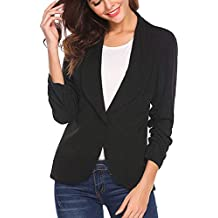 best service b5cf0 2973d Amazon.it: giacca nera donna - Multicolore