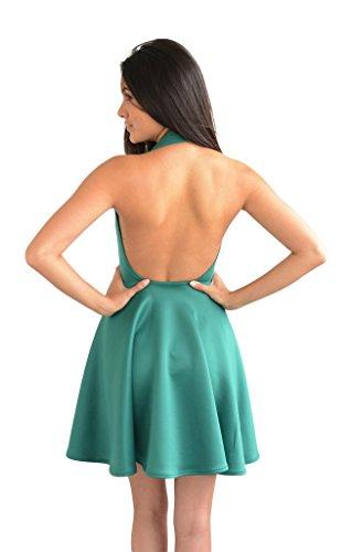 Glamzam -  Vestito  - Donna Verde