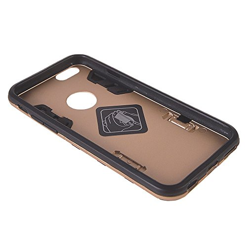 iPhone 6 Plus h¨¹lle,COOLKE [Goldene] Sto?fest Doppelschutz Duty Schutzh¨¹lle mit St?nder Cover Case f¨¹r Apple iPhone 6 Plus / 6S Plus (5.5 inch) Goldene