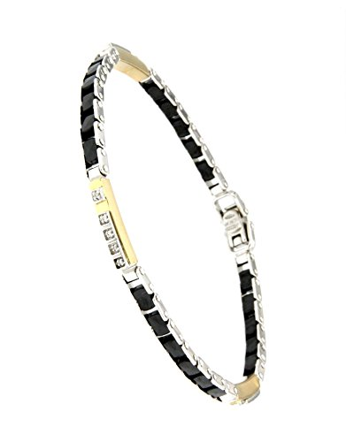 Pulsera con diamantes Oro 18 Quilates Black Ceramic