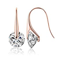 Mestige MSER3033 Women's Rose Gold Plated Crystals Drop and Dangle Earrings