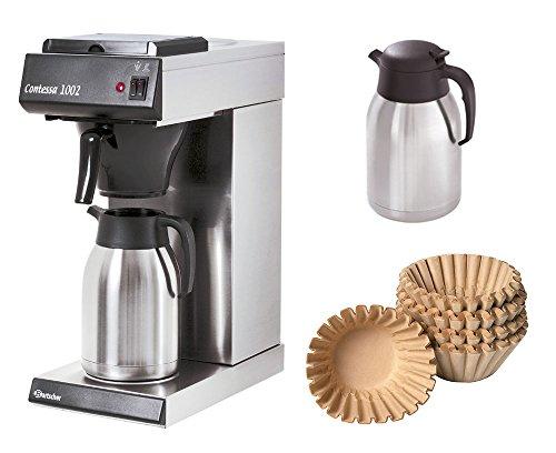 Bartscher Kaffeemaschine Contessa 1002 + 1000 Korbfilter + 2. Isolierkanne