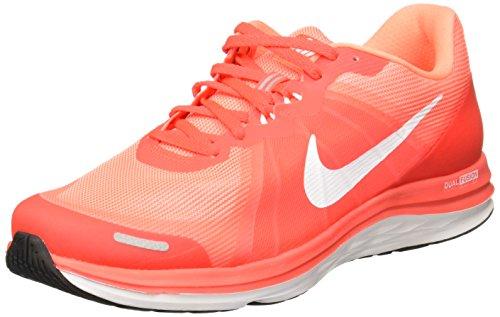 Nike Damen WMNS Dual Fusion X 2 Laufschuhe, Naranja (Brght Crmsn/White-ATMC Pnk-WHI), 44 1/2 EU (Nike Fusion Frauen)