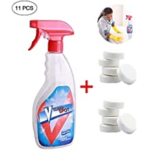 Suukee Juego de limpiador en spray efervescente multifuncional,Limpiador en aerosol efervescente de limpieza para