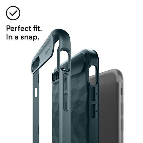 iPhone 8 Plus Case, iPhone 7 Plus Case, Caseology [Parallax Series] Slim Protective Dual Layer Cover Geometric Design for Apple iPhone 8 Plus (2017) / iPhone 7 Plus (2016) - Aqua Green Aqua Green
