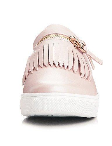 ZQ gyht Scarpe Donna - Ballerine / Mocassini - Ufficio e lavoro / Formale / Casual - Punta arrotondata - Piatto - Finta pelle - Rosa / Bianco , pink-us8 / eu39 / uk6 / cn39 , pink-us8 / eu39 / uk6 / c white-us7.5 / eu38 / uk5.5 / cn38