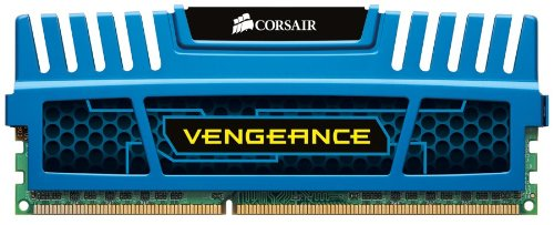 For Sale Corsair CMZ16GX3M4A1600C9B Vengeance 16GB (4x4GB) DDR3 1600 Mhz CL9 XMP Performance Desktop Memory Kit Blue Discount