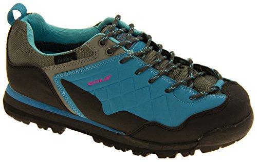 Femmes Gola imperméable à l'eau randonnée pédestre Chaussures Bleu et gris