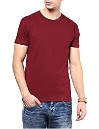 INKOVY Men's Cotton Roundneck Half Sleeve T-Shirt