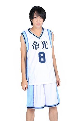 De-Cos Cosplay Costume Teikou Middle School No. 8 Kise Ryouta Jersey Set V2