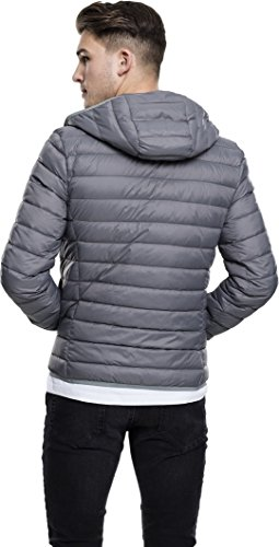 Urban Classics Herren Jacke Basic Hooded Down Jacket Grau (Darkgrey 94)
