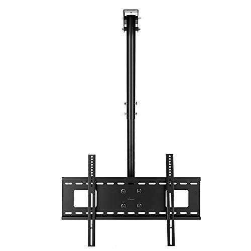 vemount neigbar & schwenkbar schwarz Deckenleuchte TV Wandhalterung für 32bis 165,1cm Plasma LCD LED Plasma Flach zeigt Smart TV, VESA 200x 200300x 300400x 400600x 400 (Schwarz Decke Gewölbte)