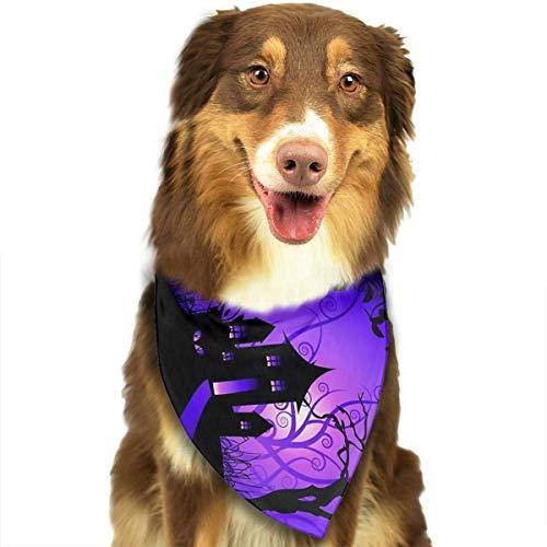 Haustier Schal Halloween Scary Night Classic Pet Bandana Haustier Halsbänder für Hund Katze eine Größe ()