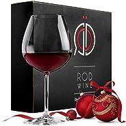 ROD Wine Juego de Copas de Vino Tinto - Vasos de Cristal en Titanio sin Plomo, con una Taza Grande 650 ml, Cop