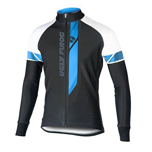 Uglyfrog Winter Jersey Thermisches Fahrradtrikot Vlies Thermo Langarm Shirt Herren Breathable Radfahren Fahrrad lange Hülsen Fahrrad Hemd MZ10
