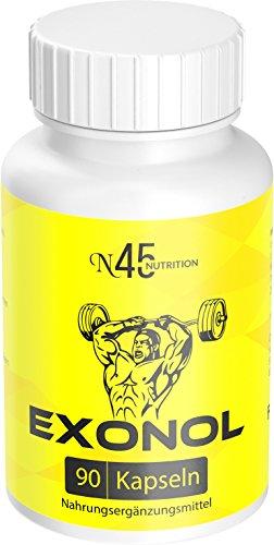 Exonol - Muskelaufbau + Extrem, Schnell, leicht, in Deutschland zugelassen, 90 Kapseln