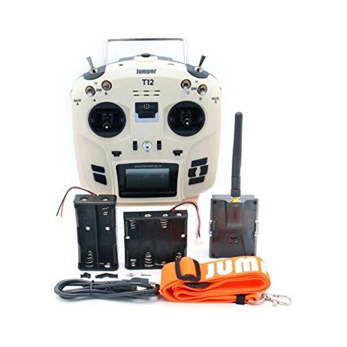 Comomingo Jumper OpenTX 12ch-Senderfunk mit JP4-in-1-Multiprotokoll-HF-Modul (Weiß) Batterie-jumper-box