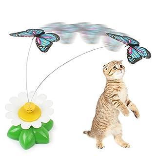 Anano Schmetterling Katze Spielzeug, Lustige Haustier Interaktive Spielzeug mit Electric Rotating Butterfly für Katze Kitten Spielen, Jagd