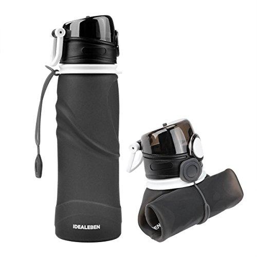 Idealeben Botella de Agua de Silicona - 750ml botella de deportes de a