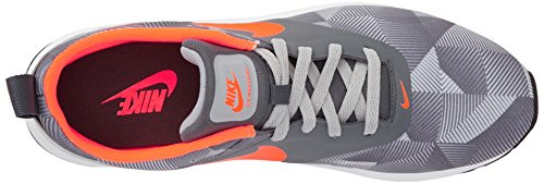 Nike Air Max Tavas Print, Chaussures de Running homme Gris (dark Grey/total Orange/wolf Grey/white)